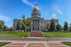 Colorado påstår capitolen i mitten av Denver Royaltyfria Foton