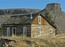 Colorado Pioneer Cabin. This is a classic western frontier scene Royalty Free Stock Image