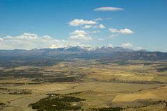 Colorado plain and mountains. Seen from Mesa Verde road Royalty Free Stock Images