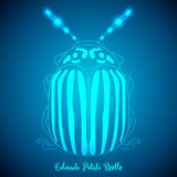 Colorado Potato Beetle and abstract backgrounds Royalty Free Stock Photo