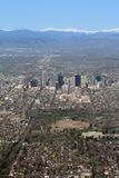 colorado powietrzny widok Denver Obrazy Stock