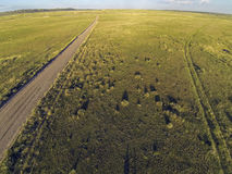 Colorado prairie aerial view Royalty Free Stock Image
