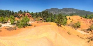 Colorado provencal en Rustrel Foto de archivo