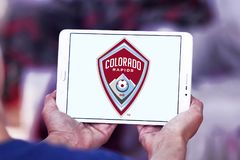 Colorado Rapids Soccer Club logo. Logo of Colorado Rapids Soccer Club on samsung tablet. The Colorado Rapids are an American professional men`s soccer team stock images