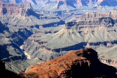 Colorado river. View of the Colorado River in Grand Canyon Stock Image