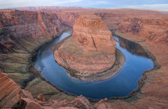 Colorado River. Gooseneck framed by sandstone mesas northern Arizona, USA Royalty Free Stock Images