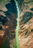 COLORADO RIVER. View of Grand Canyon and Colorado River from Helicopter Stock Photo
