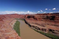 Colorado River. A strech of the Colorado River in the Canyonlands National Park Stock Photos