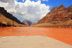 Colorado river. Under the grand canyon royalty free stock images