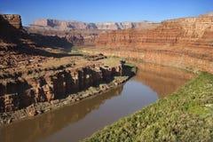 Colorado River. Aerial of Colorado River landscape in Utah, USA Royalty Free Stock Images