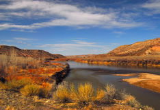 Colorado River. The Colorado and beautiful blue skies royalty free stock photography