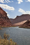 The Colorado river in abrupt coast Royalty Free Stock Images