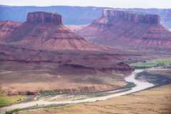 Colorado River as seen from professor valley overlook utah Royalty Free Stock Photo