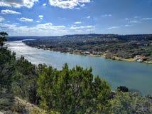 Colorado river in Austin Texas Royalty Free Stock Photo