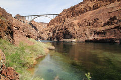Colorado River below Hoover Dam Stock Photos