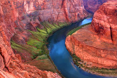 Colorado River Bends. Winding bends of the Colorado River as it makes its way through Arizona Stock Photography