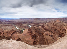 Colorado River Canyon in Utah from Dead Horse Point Stock Images