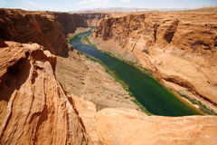 Colorado river close to Glen canyon Stock Image