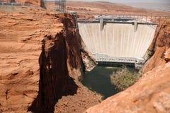 Colorado river close to Glen canyon dam,  USA Royalty Free Stock Photos
