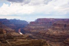 Colorado river and the grand canyon. Colorado river, colored rocks in the grand canyon Stock Image