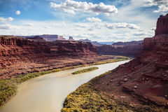 Colorado River at Dead Horse Point Royalty Free Stock Photo