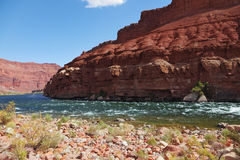 The Colorado River in the desert Stock Photos