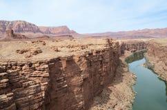 Colorado River escarpment Stock Images