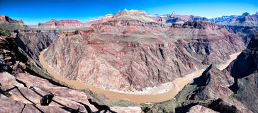 Colorado river flowing through the Grand Canyon. The Colorado river flowing through the Grand Canyon Royalty Free Stock Photo