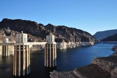 Colorado River flowing into Hoover Dam Royalty Free Stock Photography