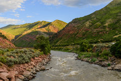 Colorado river flowing through mountains Royalty Free Stock Image