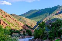Colorado river flowing through mountains Stock Photography