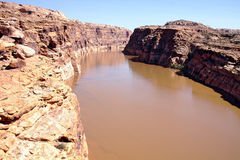 Colorado River in Glen Canyon Stock Photo