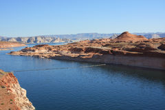 Colorado River at Glen Canyon Dam Royalty Free Stock Image