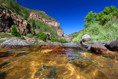 Colorado River in Glenwood Canyon. Colorado River flows through the White River National Forest in the western United States Royalty Free Stock Images