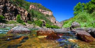 Colorado River in Glenwood Canyon Royalty Free Stock Photography