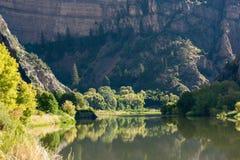 Colorado river in Glenwood Canyon Royalty Free Stock Photos
