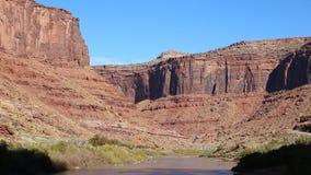 Colorado River gorge stock footage