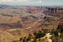 The Colorado River at Grand Canyon. Colorado River North of Desert View, Grand Canyon Royalty Free Stock Photo