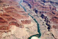 Colorado River - Grand Canyon. Colorado River in Grand Canyon National Park – view from an airplane. Canon 20D Royalty Free Stock Images
