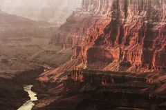 Colorado river in the Grand Canyon Stock Images