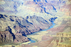 Colorado River at Grand Canyon South Rim Royalty Free Stock Images
