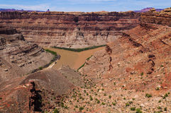 Colorado River and Green River confluence Stock Photos