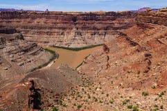 Colorado River and Green River confluence Stock Photos