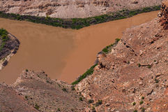Colorado River and Green River confluence Royalty Free Stock Image