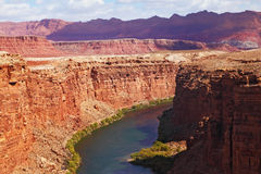 The Colorado River  into the high banks Royalty Free Stock Photo