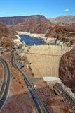 Colorado River and Hoover Dam, border of Arizona and Nevada, USA Stock Image