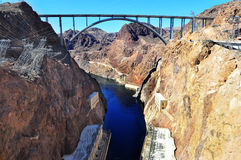 Colorado River and Hoover Dam. View on the Colorado River from the Hoover Dam Stock Photography