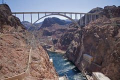 Colorado river at Hoover Dam Royalty Free Stock Photography