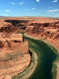 Colorado river Horseshoe bend Royalty Free Stock Images