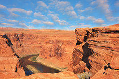 The Colorado River in the Horseshoe bend Royalty Free Stock Photo